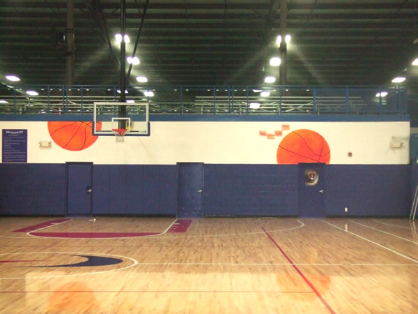 everything 39 s an easel provides custom art work in the ForBasketball Court Mural