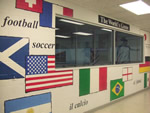 The Worlds Game Soccer Mural